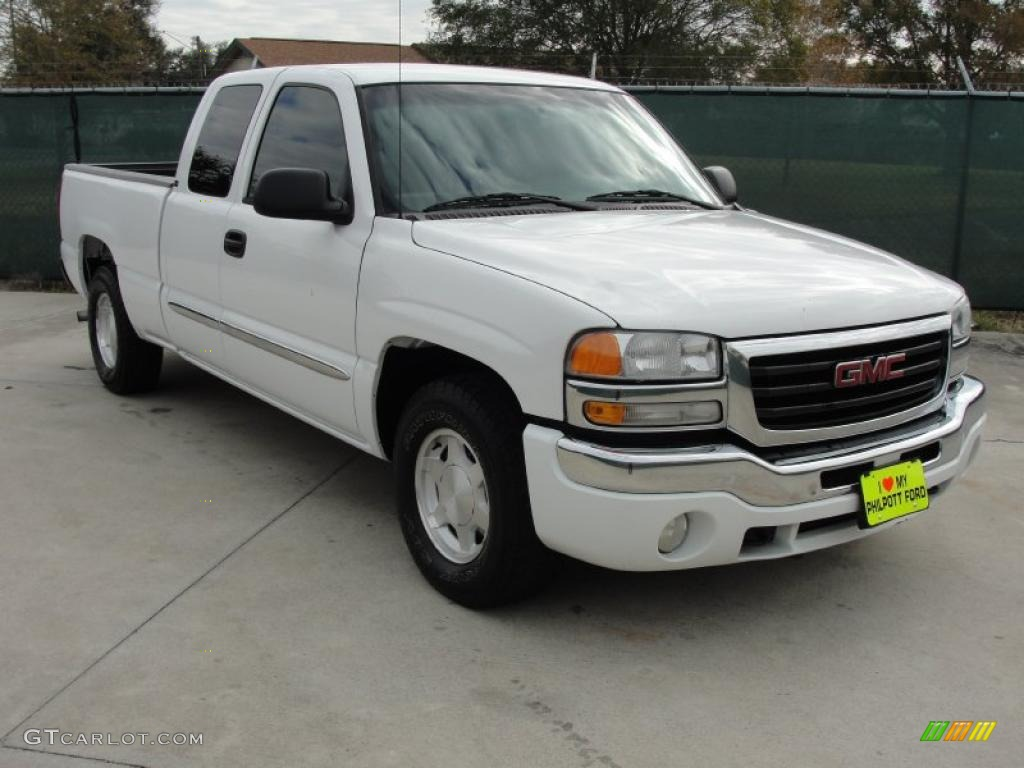 2003 summit white gmc sierra 1500 slt extended cab 42099541 car color galleries. Black Bedroom Furniture Sets. Home Design Ideas