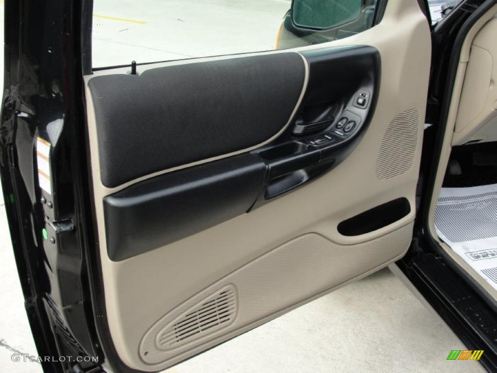2004 Ford Ranger Edge Supercab Black Medium Pebble Door Panel Photo 42130767
