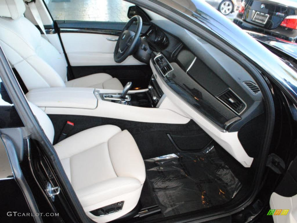 ivory white black nappa leather interior 2010 bmw 5 series 550i gran turismo photo 42131891. Black Bedroom Furniture Sets. Home Design Ideas