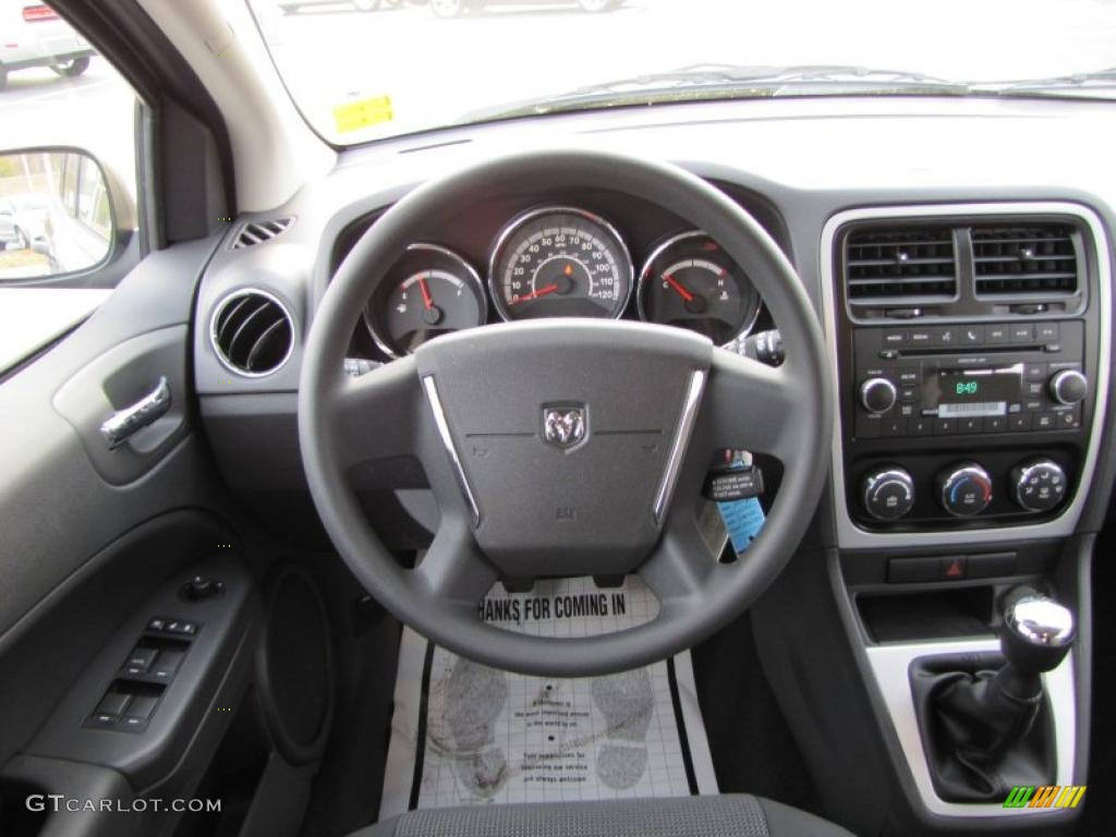 2011 Dodge Caliber Express Dark Slate Gray Dashboard Photo #42135440