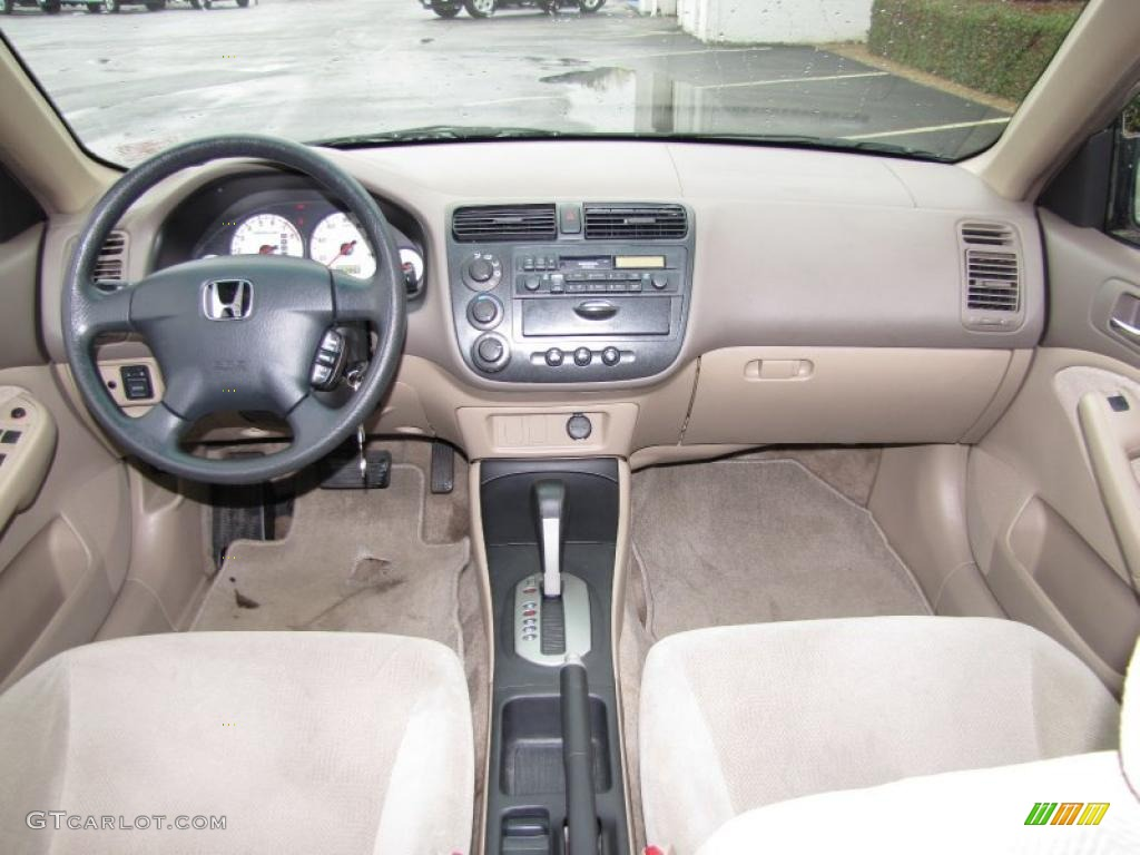 Beige Interior 2002 Honda Civic LX Sedan Photo #42136427 GTCarLot ...