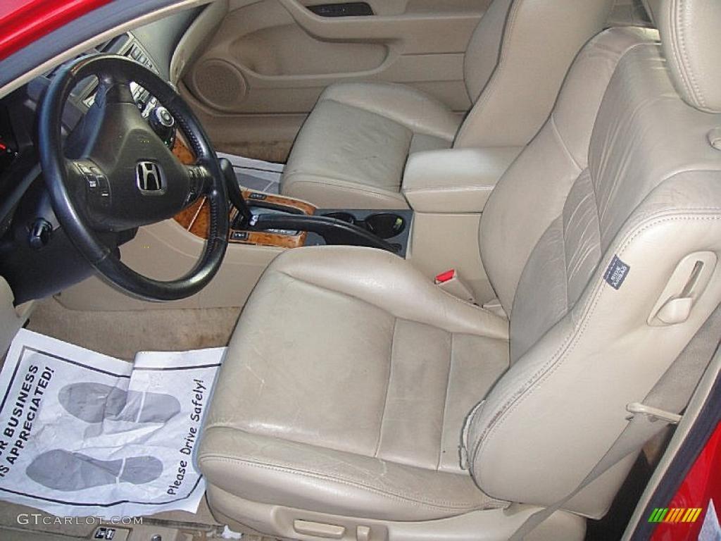 Ivory Interior 2004 Honda Accord Ex L Coupe Photo 42161888