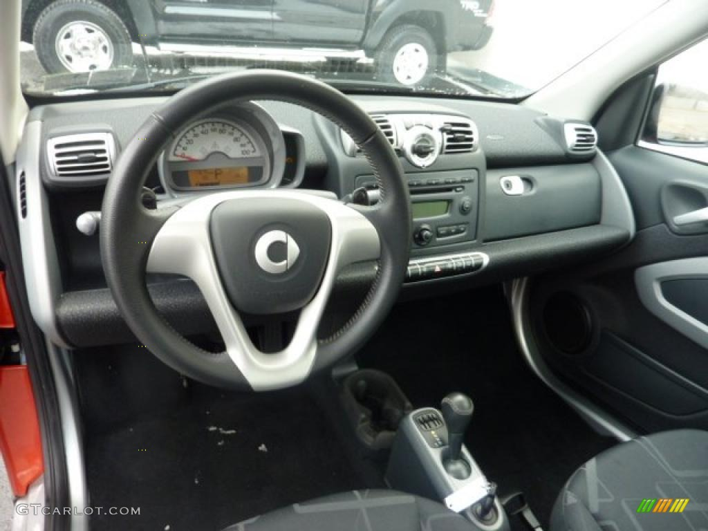 design black interior 2008 smart fortwo passion coupe photo 42164292. Black Bedroom Furniture Sets. Home Design Ideas