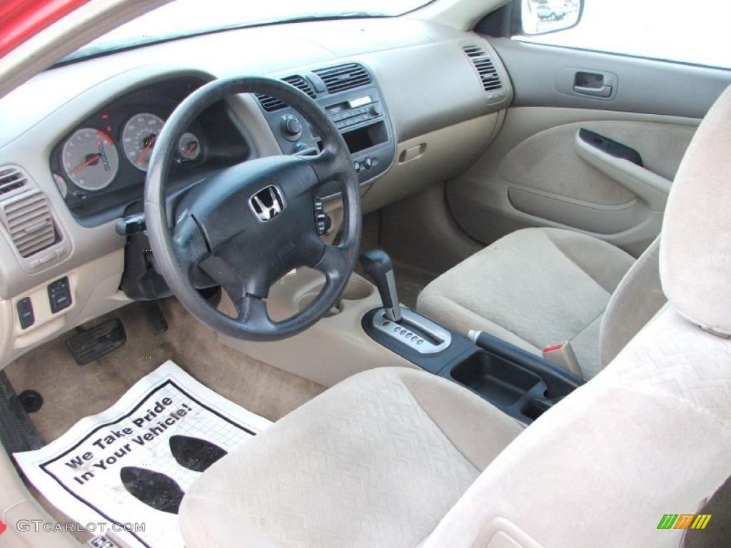 Beige Interior 2001 Honda Civic LX Coupe Photo #42177844 | GTCarLot ...