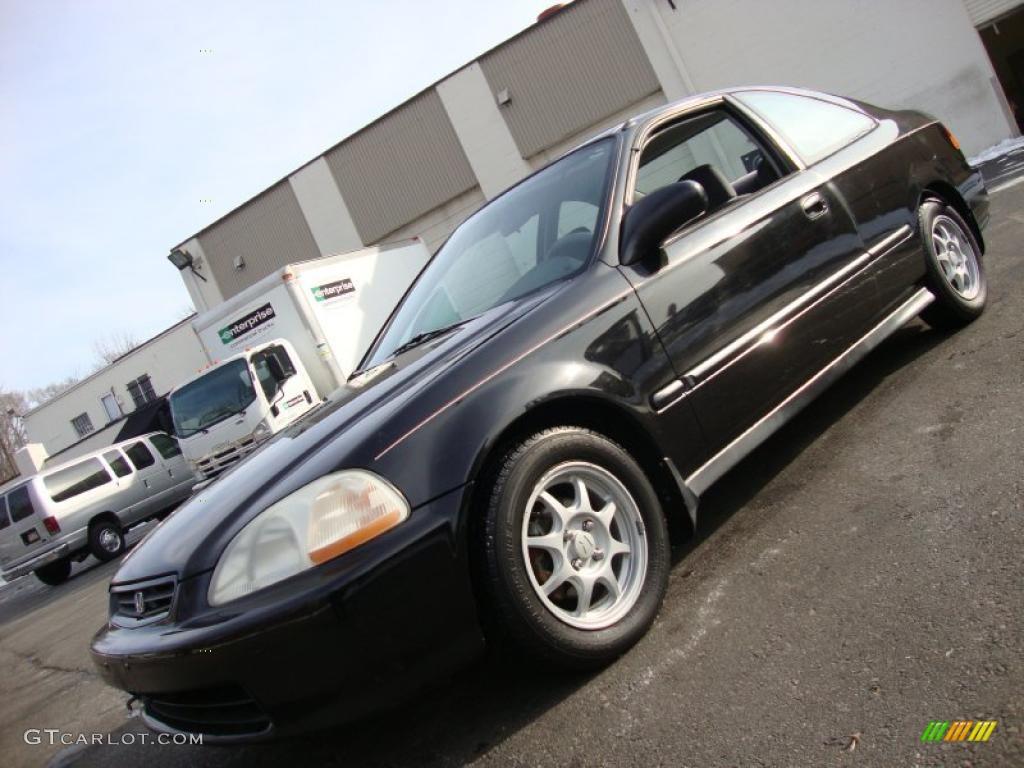 Black Pearl Metallic Honda Civic HX Coupe