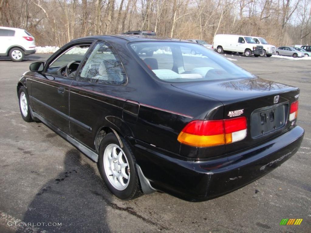 Black Pearl Metallic 1997 Honda Civic HX Coupe Exterior Photo 42185442