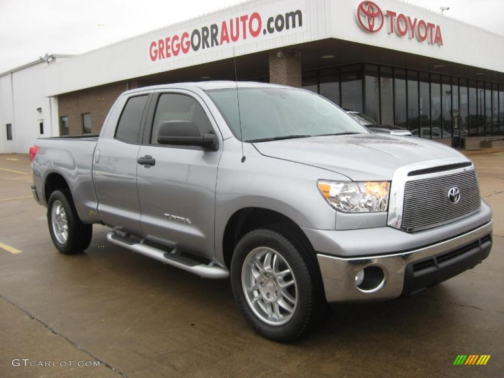 2011 Tundra SR5 Double Cab - Silver Sky Metallic / Graphite Gray photo #1