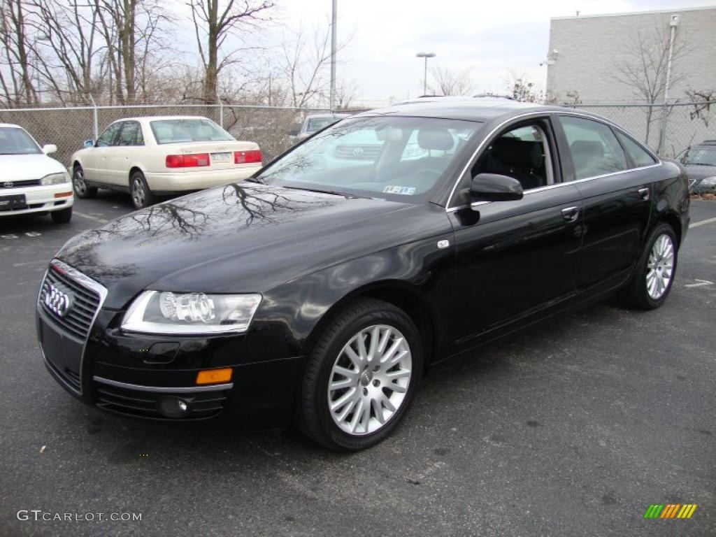 brilliant black 2007 audi a6 4 2 quattro sedan exterior photo 42200599. Black Bedroom Furniture Sets. Home Design Ideas