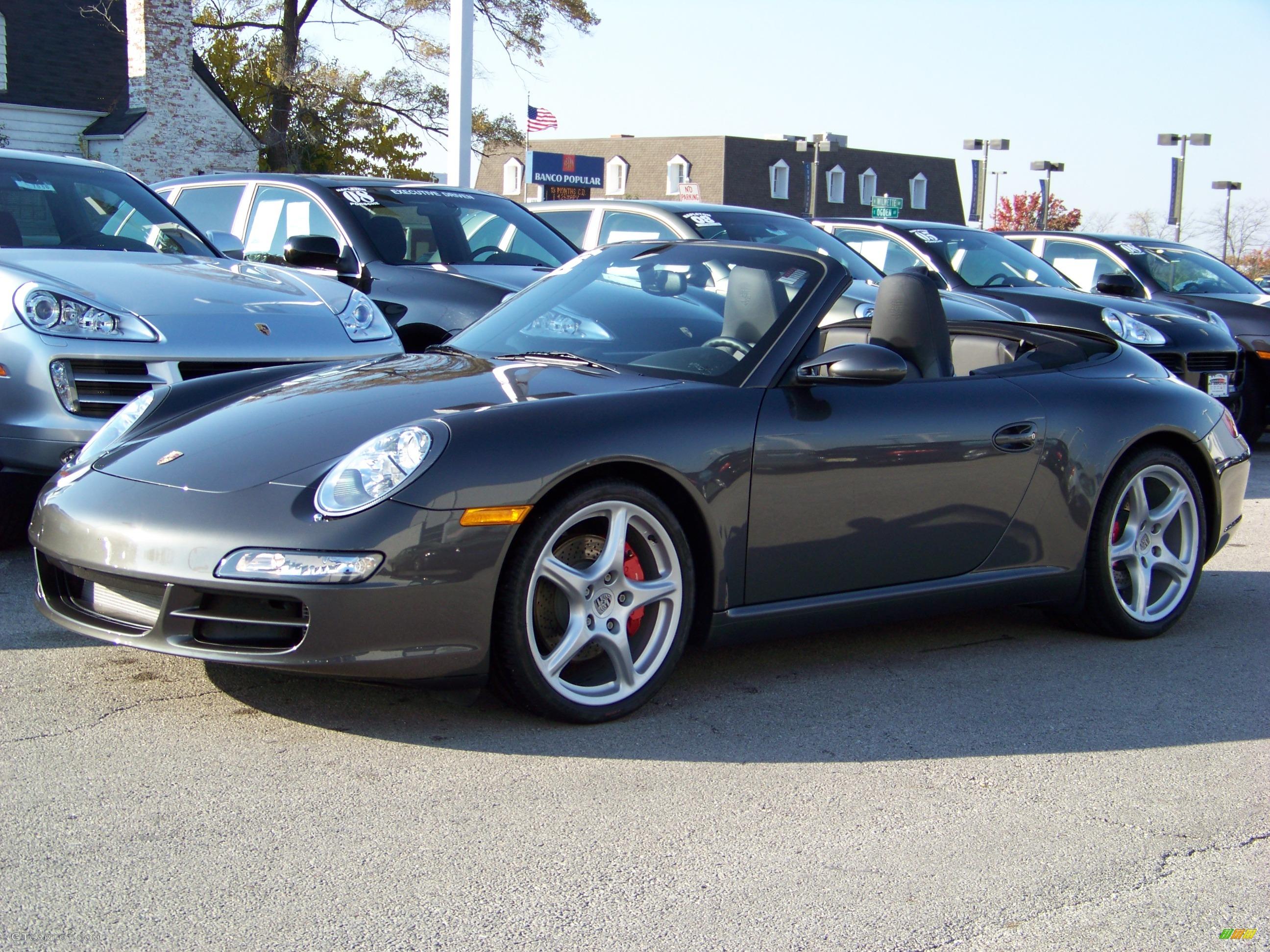 2006 slate grey metallic porsche 911 carrera s cabriolet 422000 car color. Black Bedroom Furniture Sets. Home Design Ideas