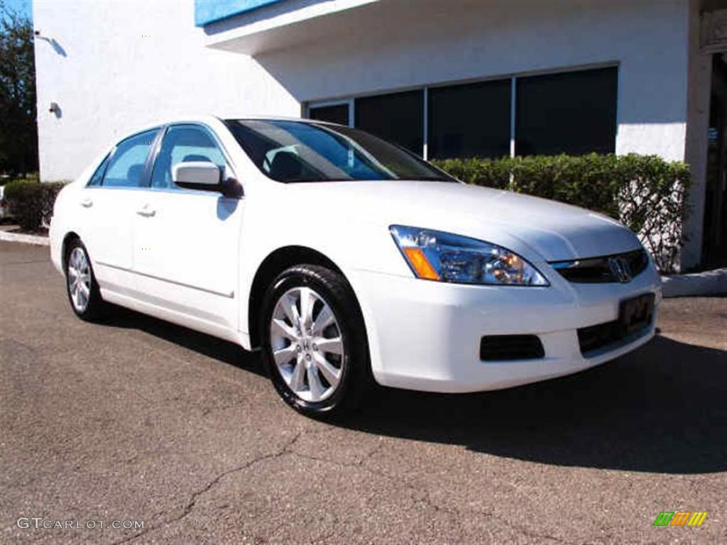 2007 Taffeta White Honda Accord Ex L V6 Sedan 42187808