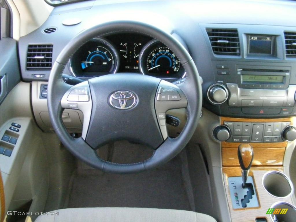 2008 Toyota Highlander Hybrid 4wd Sand Beige Dashboard Photo 42205071