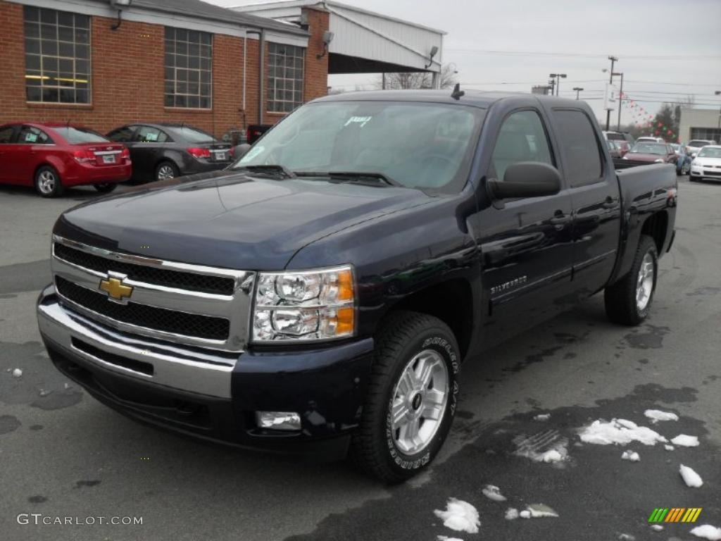 2011 Silverado 1500 LT Crew Cab 4x4 - Imperial Blue Metallic / Light Titanium/Ebony photo #1