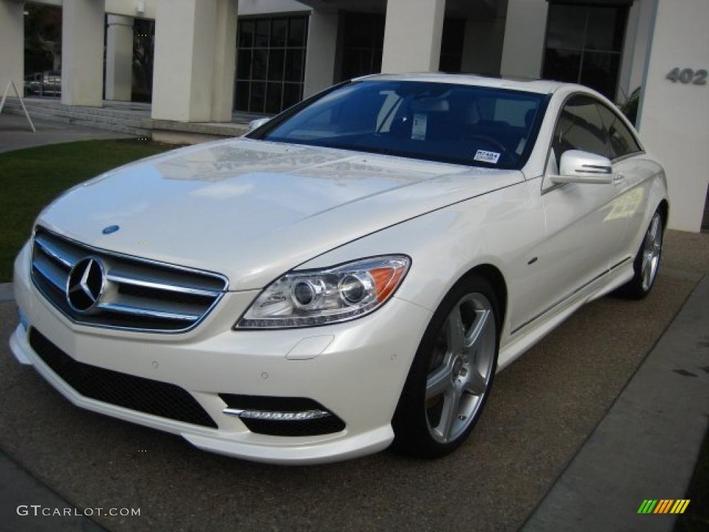 Diamond white metallic 2011 mercedes benz cl 550 4matic for Mercedes benz white paint
