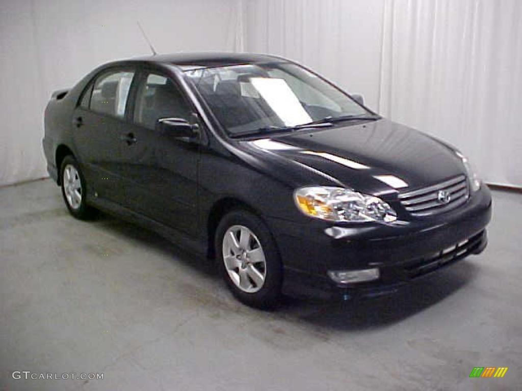 2004 black toyota corolla s 42188326 car. Black Bedroom Furniture Sets. Home Design Ideas