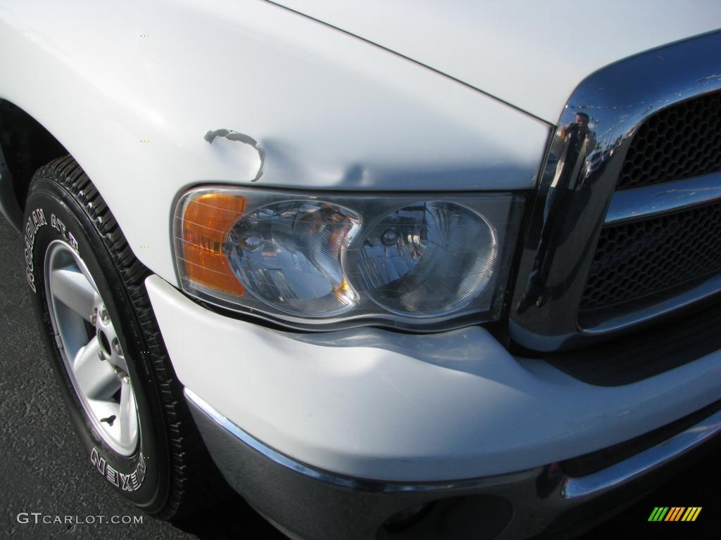 2002 Ram 1500 SLT Quad Cab - Bright White / Taupe photo #2