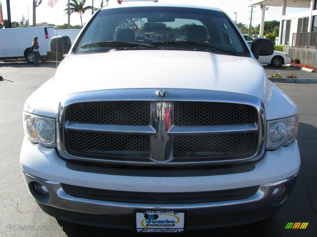2002 Ram 1500 SLT Quad Cab - Bright White / Taupe photo #3