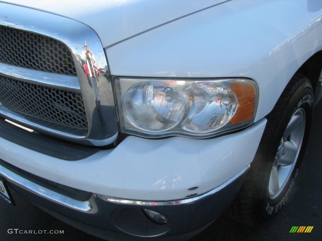 2002 Ram 1500 SLT Quad Cab - Bright White / Taupe photo #4