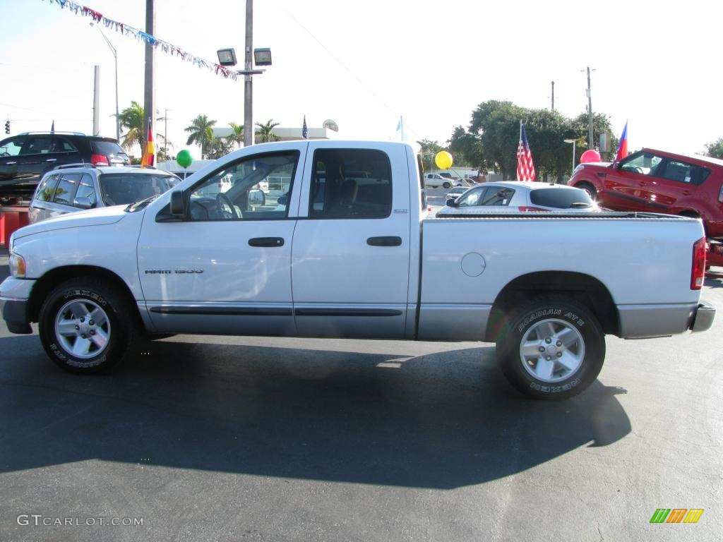 2002 Ram 1500 SLT Quad Cab - Bright White / Taupe photo #6