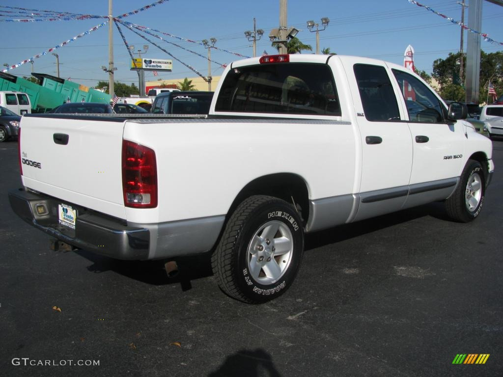 2002 Ram 1500 SLT Quad Cab - Bright White / Taupe photo #13