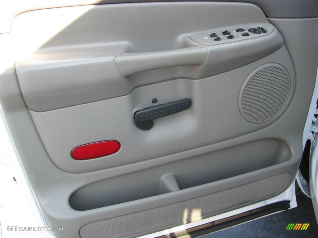 2002 Ram 1500 SLT Quad Cab - Bright White / Taupe photo #18