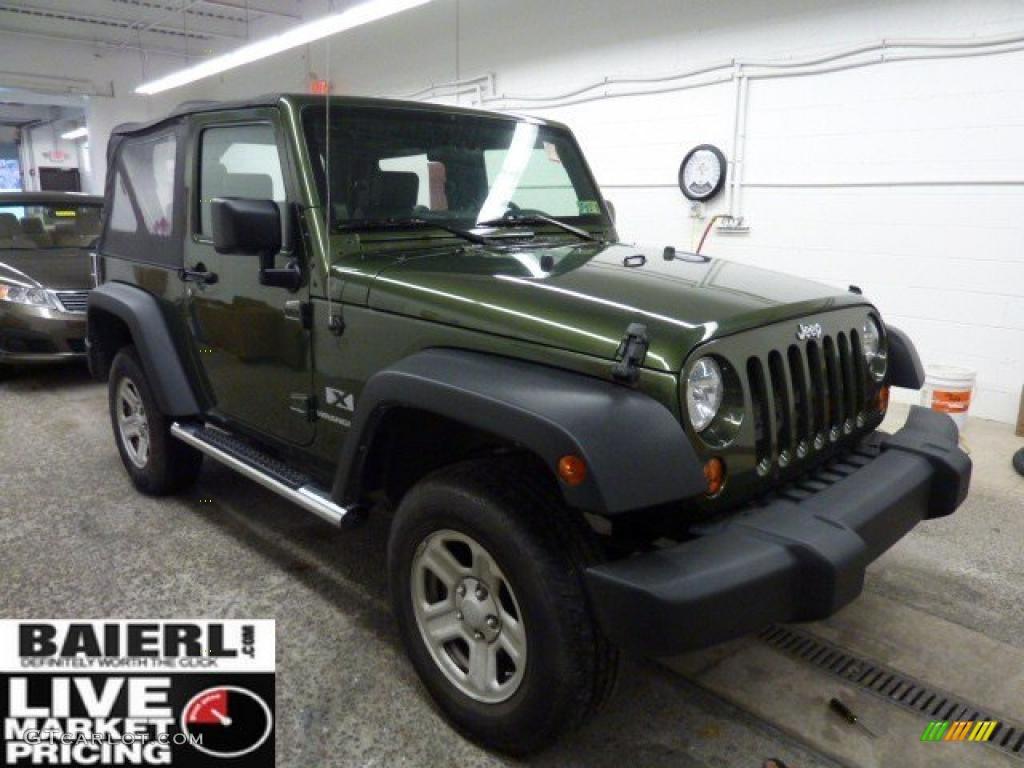 2008 Jeep Green Metallic Jeep Wrangler X 4x4 42243539