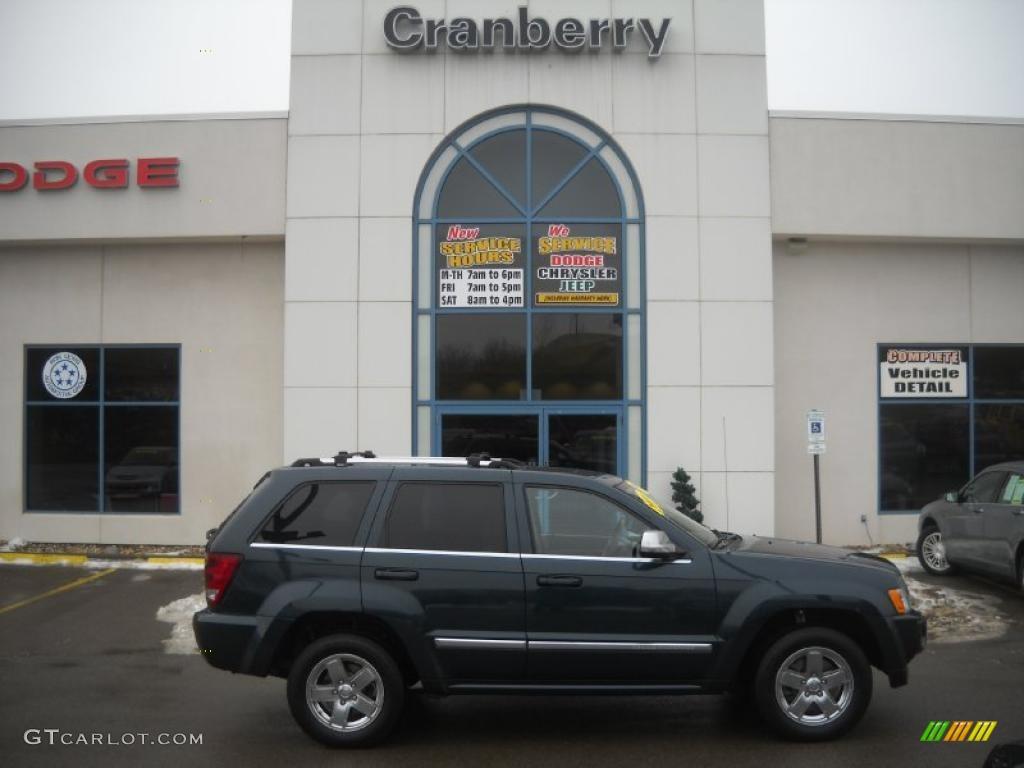2006 Grand Cherokee Overland 4x4 - Deep Beryl Green Pearl / Medium Slate Gray photo #1