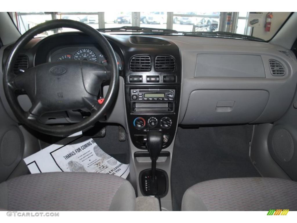 Gray interior 2002 kia rio sedan photo 42262026