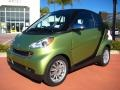 Green Matte 2011 Smart fortwo passion cabriolet