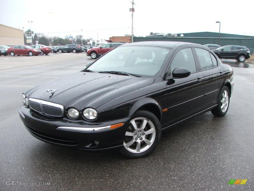 ebony black 2004 jaguar x type 2 5 exterior photo 42282529. Black Bedroom Furniture Sets. Home Design Ideas