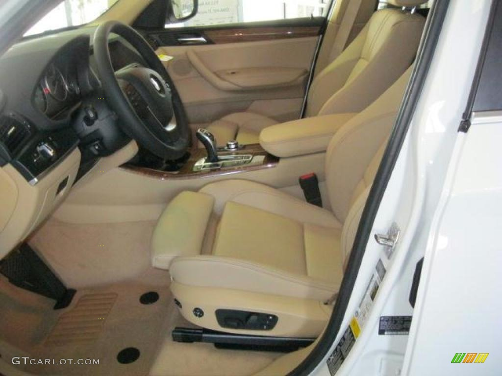 sand beige nevada leather interior 2011 bmw x3 xdrive 35i photo 42303256. Black Bedroom Furniture Sets. Home Design Ideas
