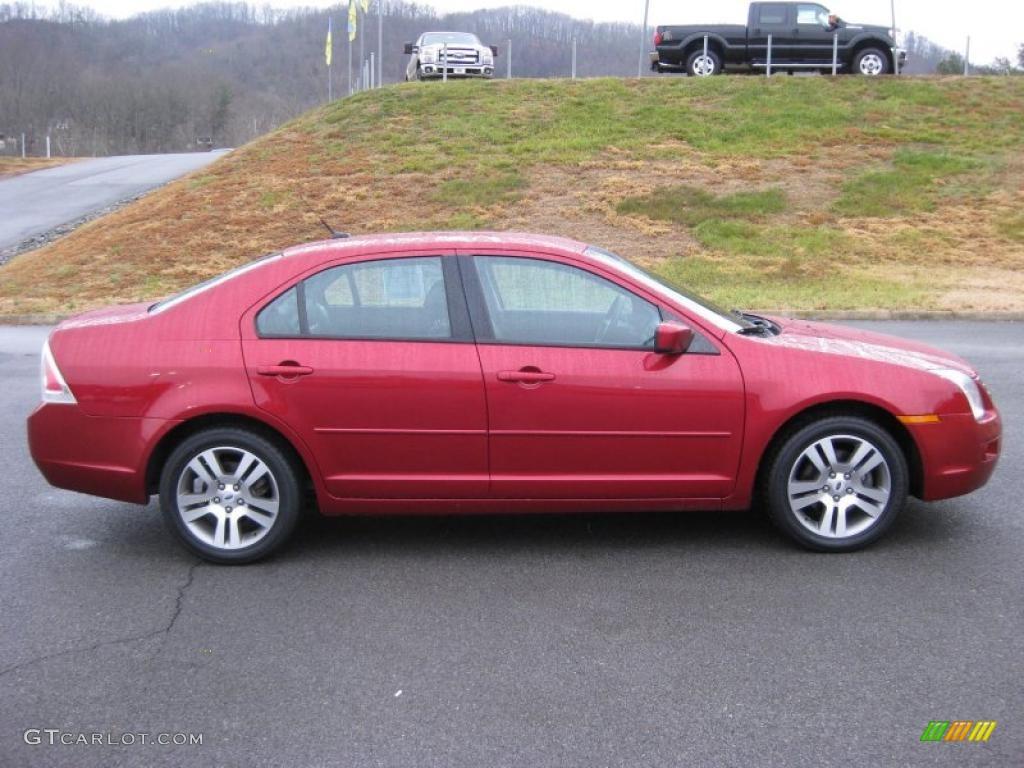Redfire Metallic 2007 Ford Fusion Se Exterior Photo