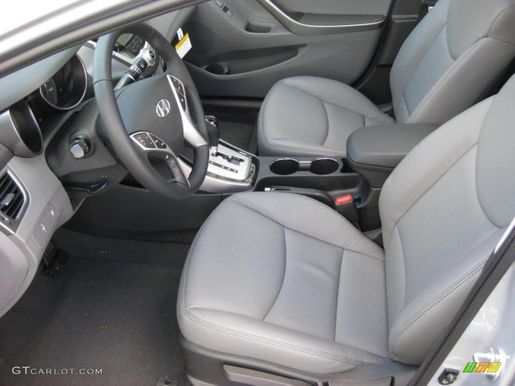 Gray Interior 2011 Hyundai Elantra Limited Photo 42321075
