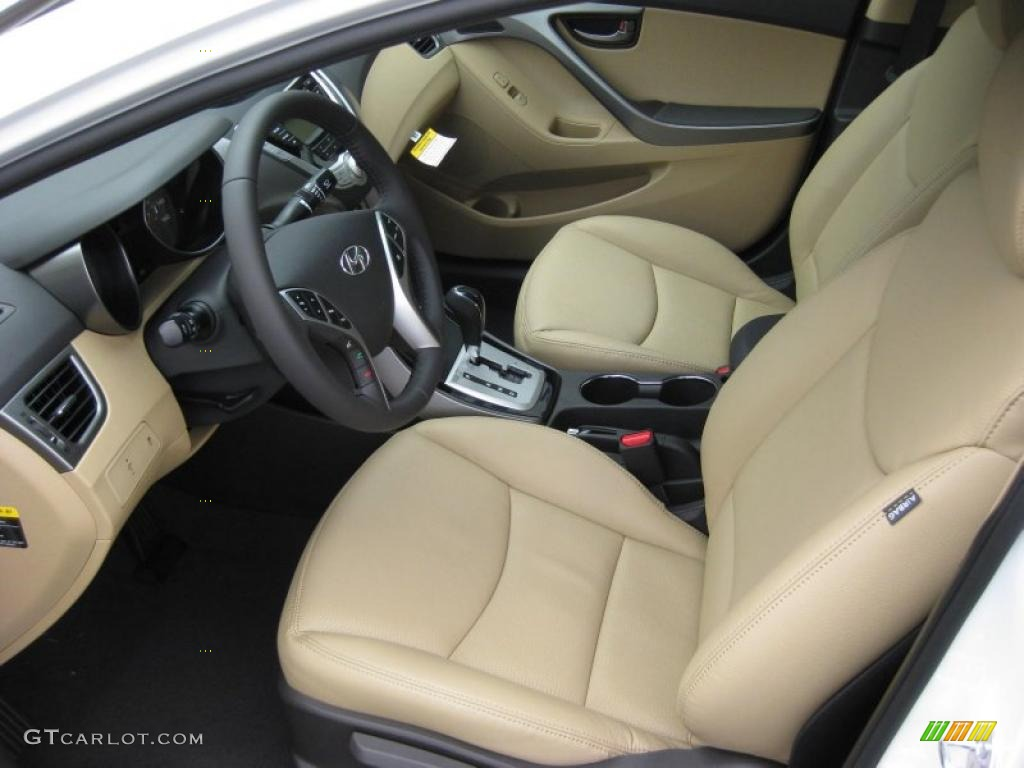 beige interior 2011 hyundai elantra limited photo 42321523. Black Bedroom Furniture Sets. Home Design Ideas