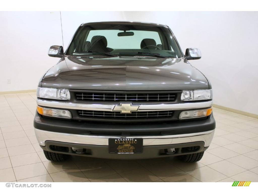 2002 Silverado 1500 LS Regular Cab 4x4 - Medium Charcoal Gray Metallic / Graphite Gray photo #2