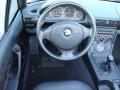 2000 BMW Z3 Black Interior Steering Wheel Photo