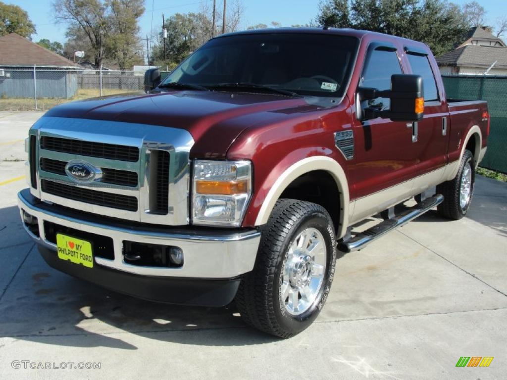 royal red metallic 2009 ford f250 super duty lariat crew cab 4x4 exterior photo 42376083. Black Bedroom Furniture Sets. Home Design Ideas