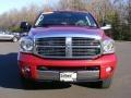 2007 Inferno Red Crystal Pearl Dodge Ram 3500 Laramie Quad Cab 4x4  photo #2