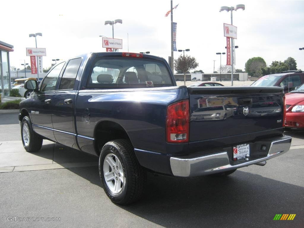 2006 Ram 1500 SLT Quad Cab - Patriot Blue Pearl / Medium Slate Gray photo #5
