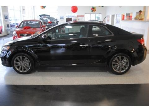 Ebony Black Kia Forte Koup in 2011. Ebony Black