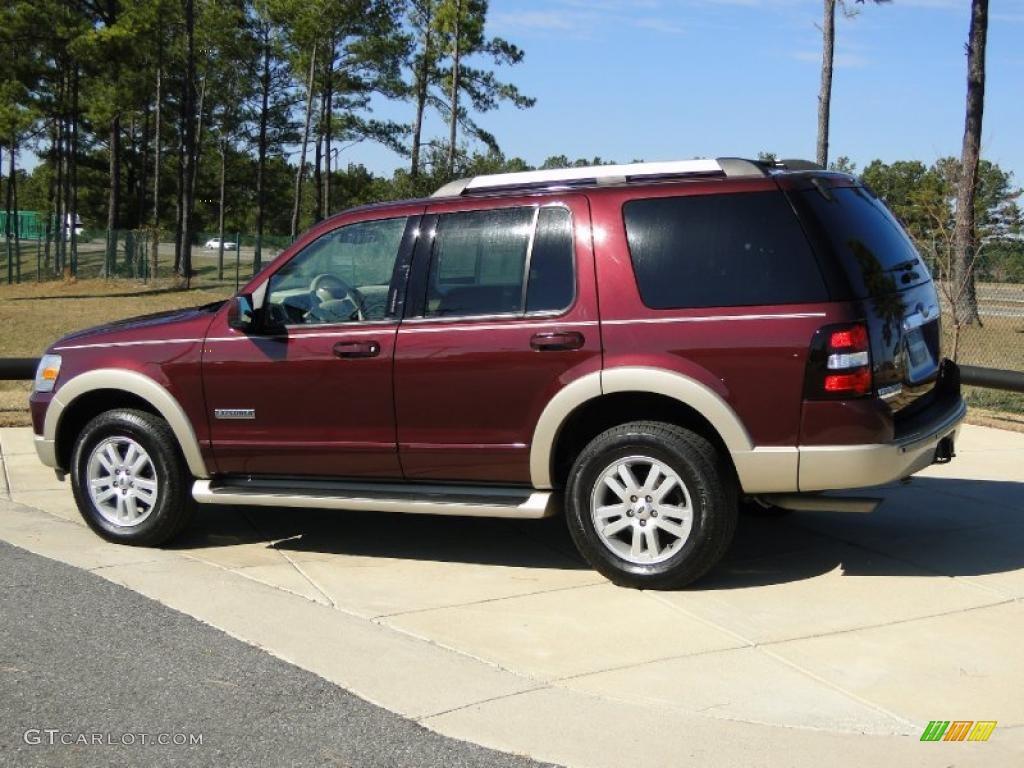 Dark Cherry Metallic 2006 Ford Explorer Eddie Bauer Exterior Photo 42407327