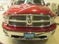 2011 Deep Cherry Red Crystal Pearl Dodge Ram 1500 Laramie Quad Cab 4x4  photo #2