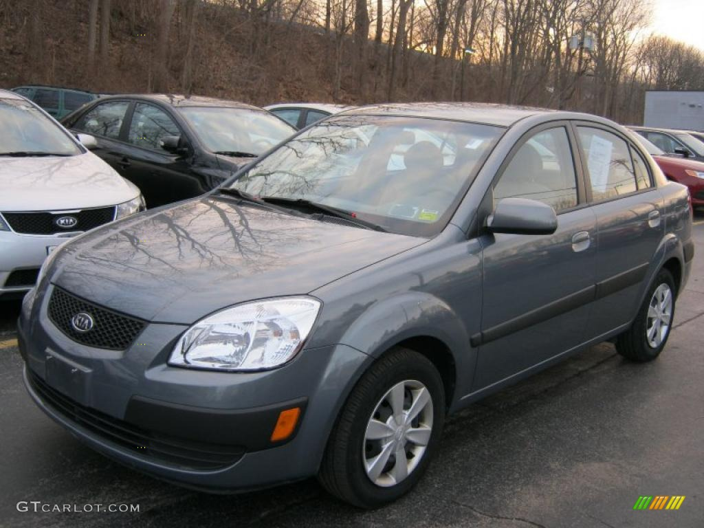 2007 olive gray kia rio lx sedan 42379315 car color galleries. Black Bedroom Furniture Sets. Home Design Ideas