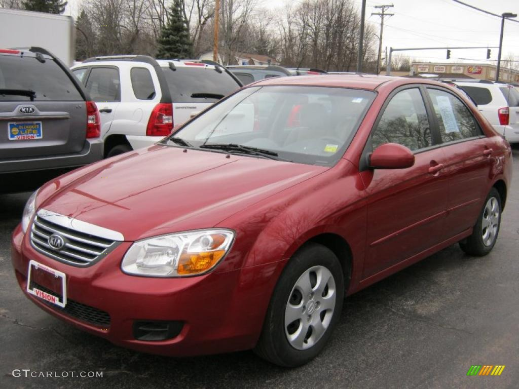 Spicy red kia spectra