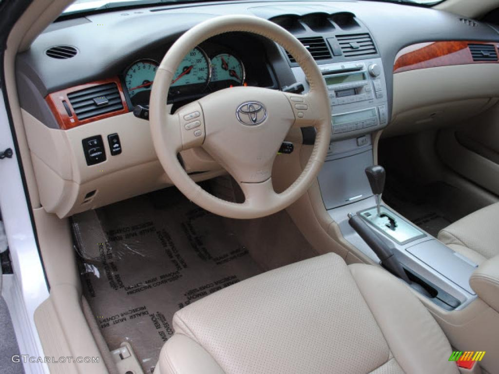 Ivory Interior 2006 Toyota Solara Sle V6 Coupe Photo