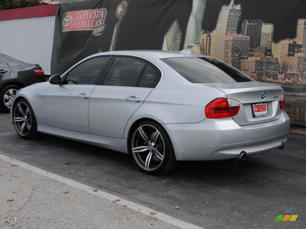 Titanium Silver Metallic 2007 BMW 3 Series 335i Sedan Exterior Photo 42431224