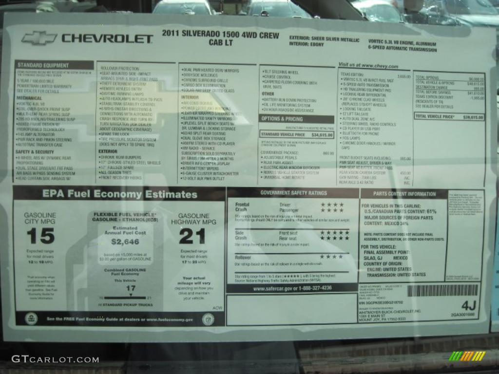 2011 Chevrolet Silverado 1500 LT Texas Edition Crew Cab ...