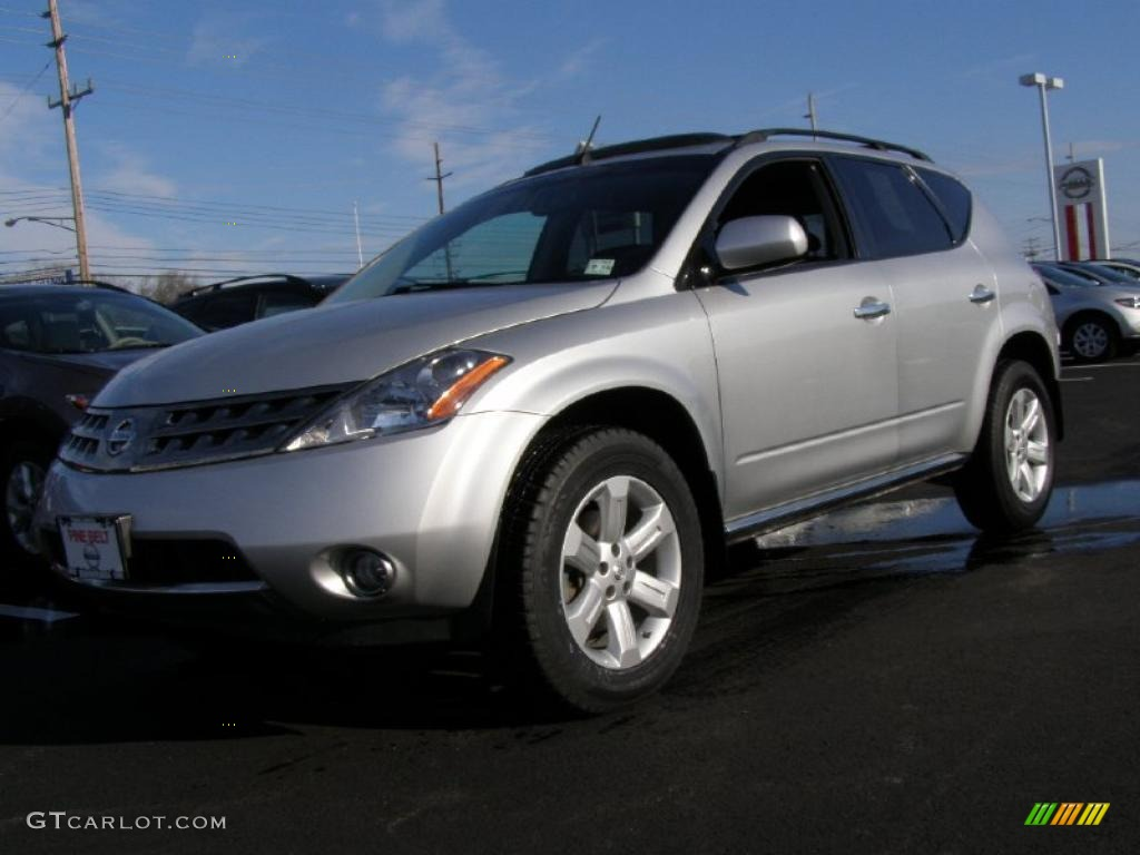2007 Murano SL AWD - Brilliant Silver Metallic / Charcoal photo #1