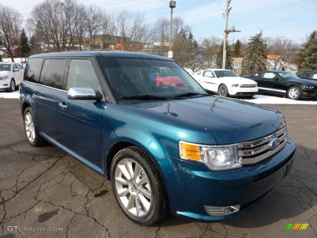 2011 Flex Limited AWD EcoBoost - Mediterranean Blue Metallic / Charcoal Black photo #1