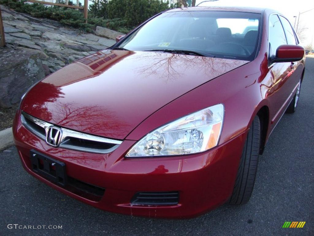 2007 moroccan red pearl honda accord se v6 sedan 42440565 car color galleries. Black Bedroom Furniture Sets. Home Design Ideas