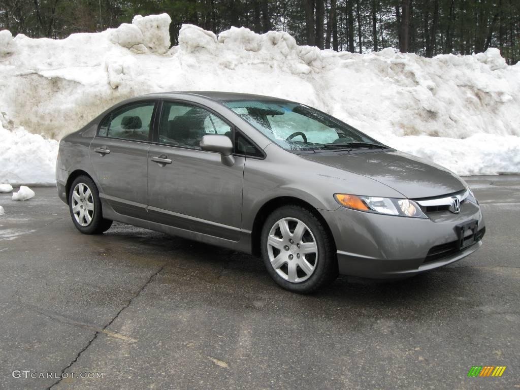 Galaxy Gray Metallic Honda Civic. Honda Civic LX Sedan